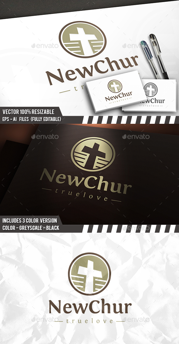 Church Cross Logo - Symbols Logo Templates