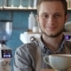 Handsome Barista Making a Cup Of Coffee - VideoHive Item for Sale
