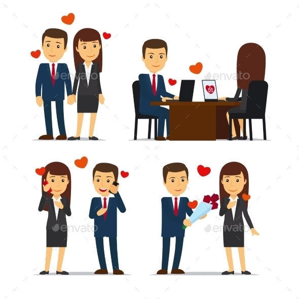 Office Romance Or Love Affair At Work - People Characters