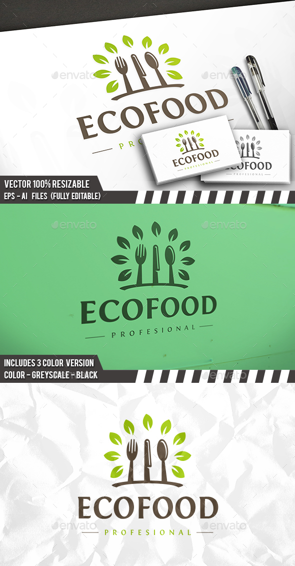 Eco Food Logo - Food Logo Templates