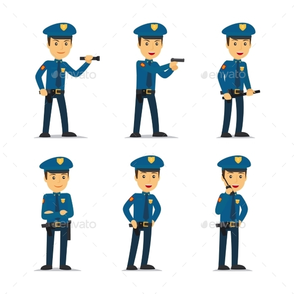 Police Officer Vector Character - People Characters