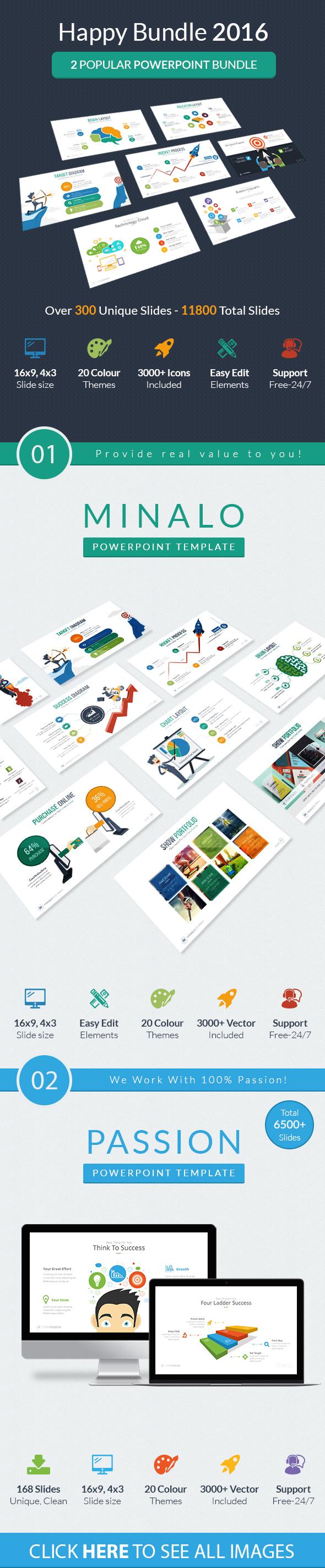 Happy Bundle 2016 - Business PowerPoint Templates