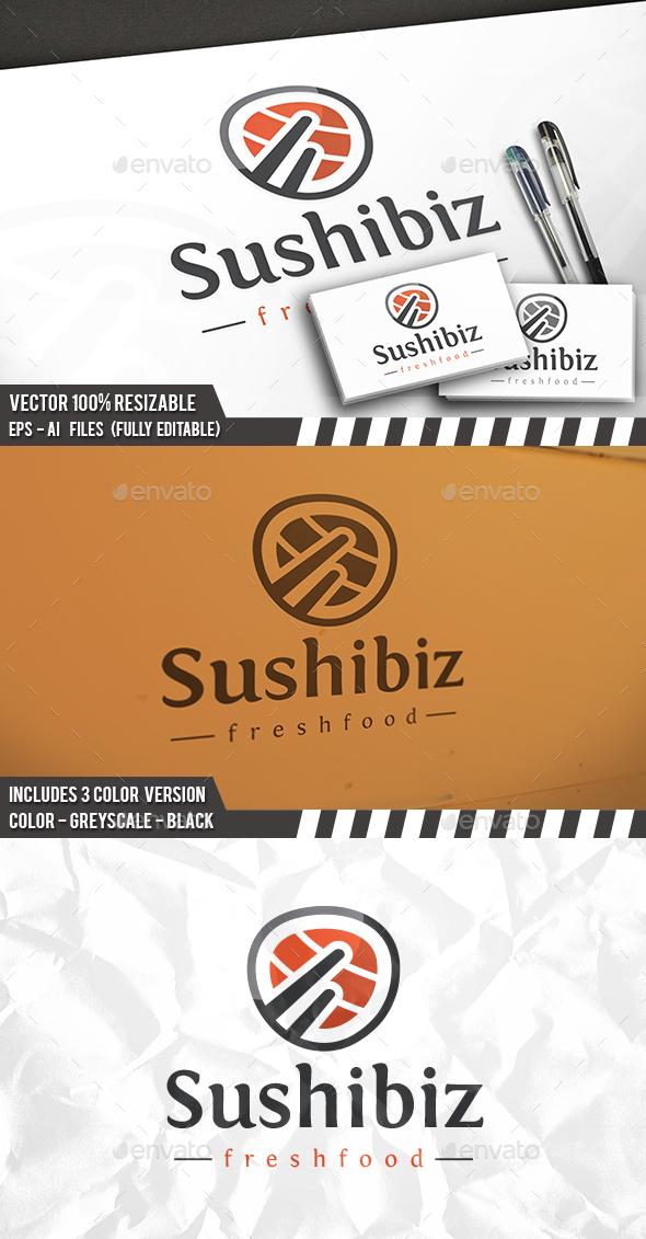 Sushi Logo - Food Logo Templates