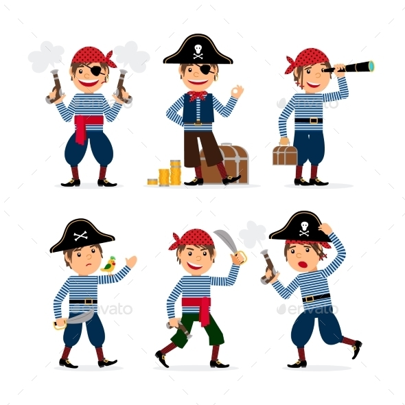 Pirate Child Boy Vector - People Characters