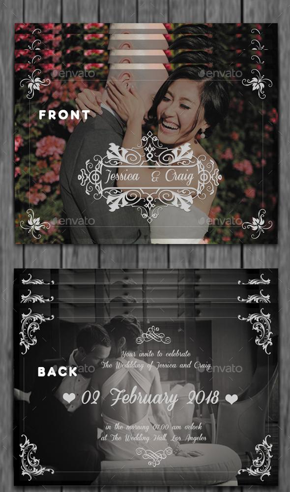 Silver Wedding Invitation - Cards & Invites Print Templates