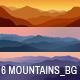 6 Mountains Backgrounds - GraphicRiver Item for Sale