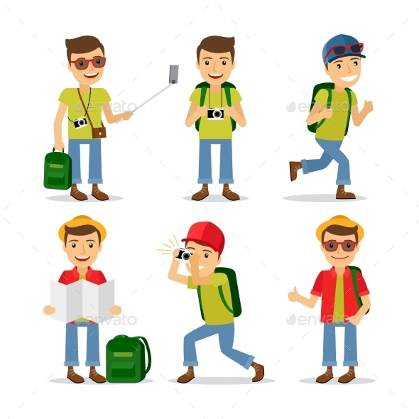 Tourist Travel Character Vector - People Characters