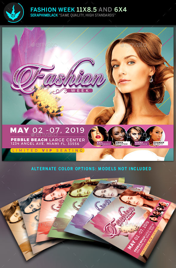Fashion Week Flyer Template - Events Flyers