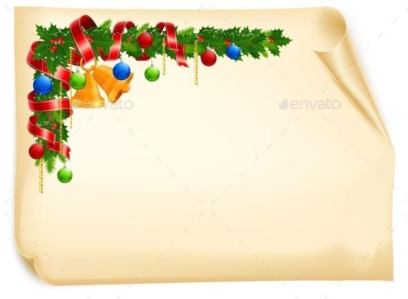 Christmas Angle Garland Card - Concepts Business
