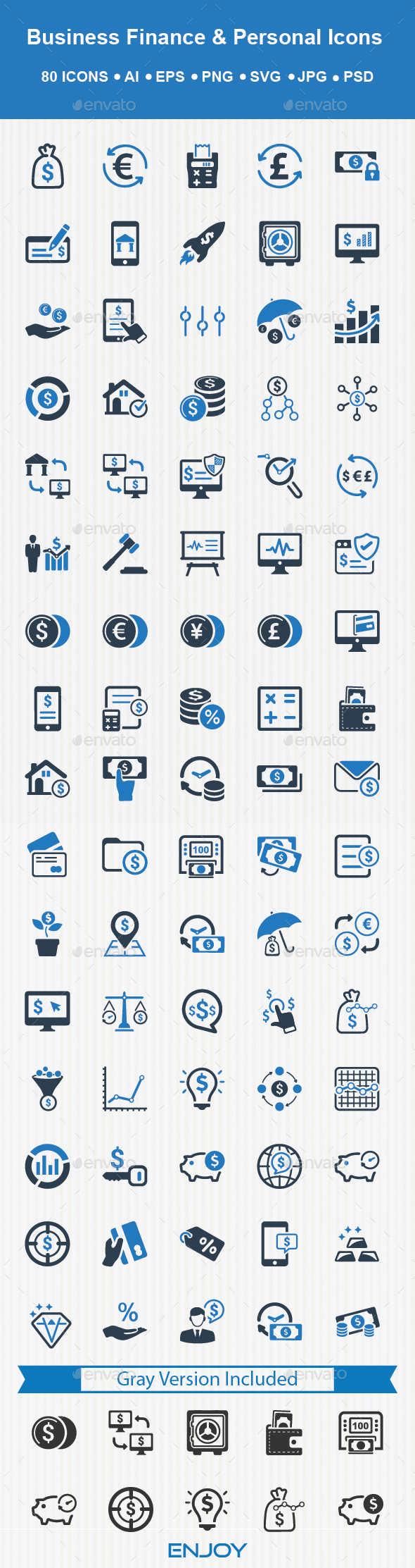 Personal And Business Finance Icons - Business Icons