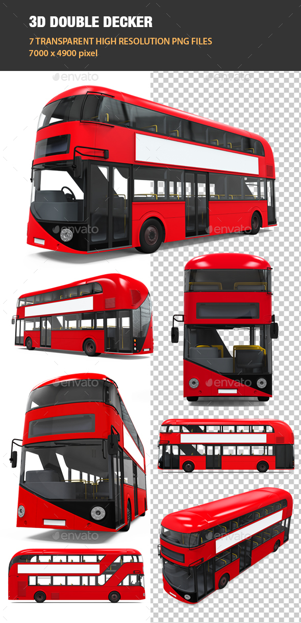 3D Double Decker - Objects 3D Renders