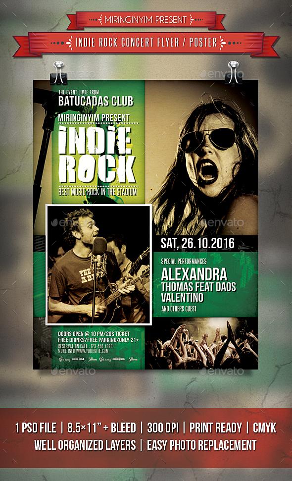 Indie Rock Concert Flyer / Poster - Events Flyers