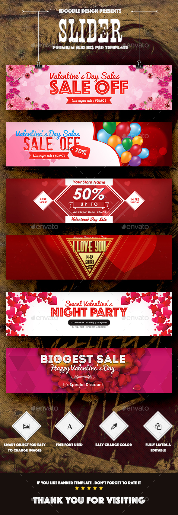 Valentines Day Sliders - 06 PSD - Sliders & Features Web Elements