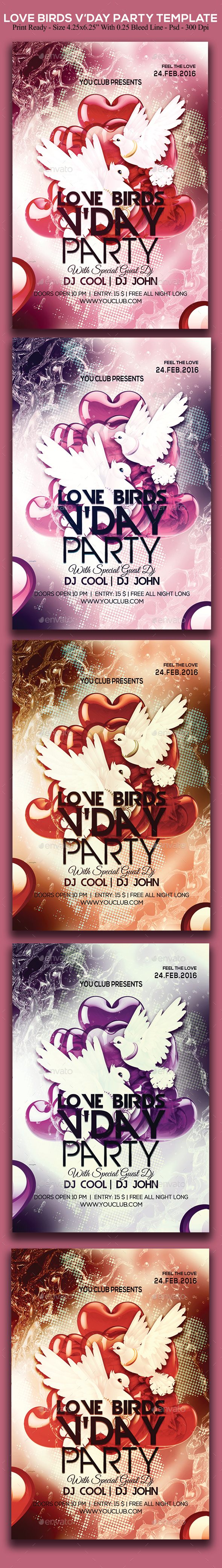 Love Birds Valentines Day Party - Clubs & Parties Events