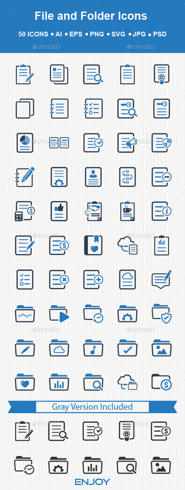 File and Folder Icons - Business Icons
