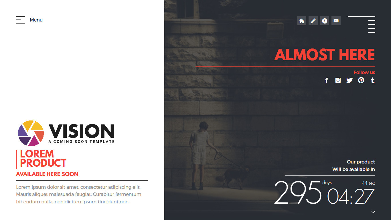 Vision Creative Template For Coming Soon Page By Mivfx Themeforest