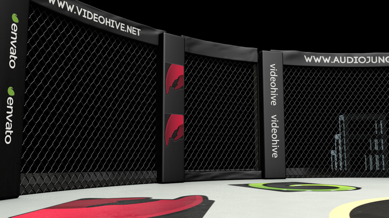 Mma Cage One Fc By Cybercandy 3docean