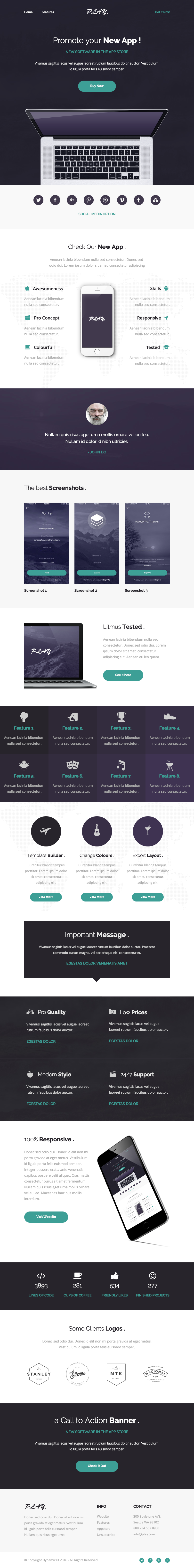 Play - Responsive Email + Online Template Builder by DynamicXX ...