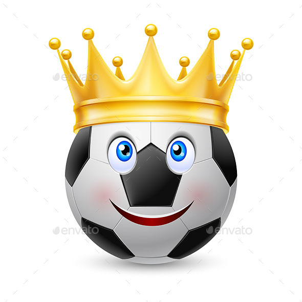 Gold Crown on Soccer Ball - Man-made Objects Objects