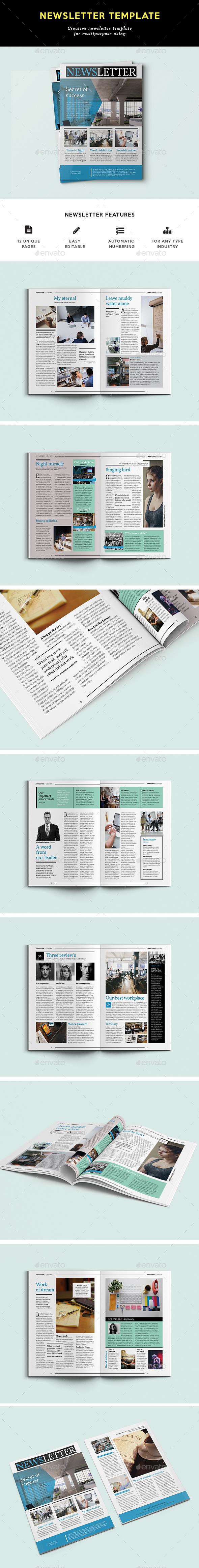 Multipurpose Newsletter - Newsletters Print Templates