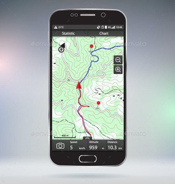 GPS Tracking - Travel Conceptual