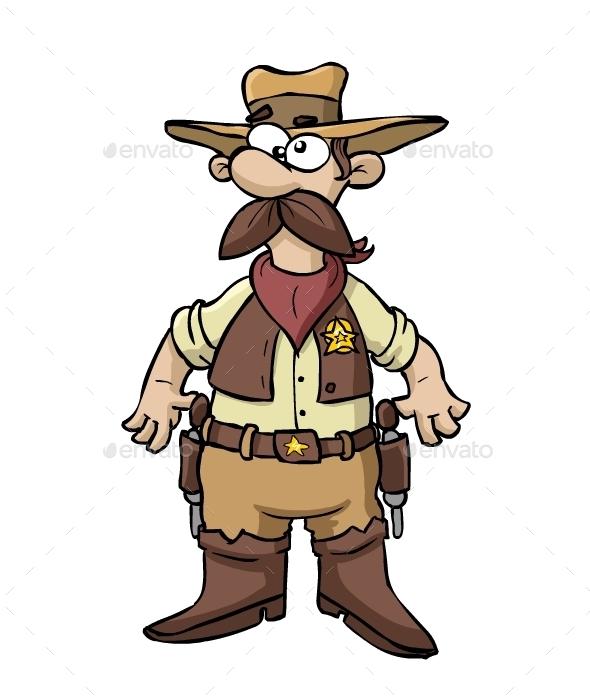 Cartoon cowboy - Characters Vectors