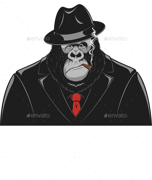 Monkey in a Suit gangster - Animals Characters