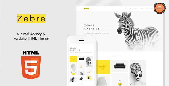 Zebre – Minimal, Agency & Porfolio HTML Theme