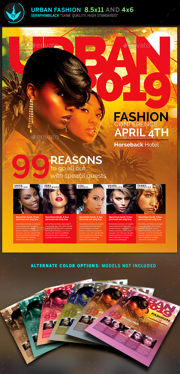 Urban Fashion Flyer Template - Events Flyers