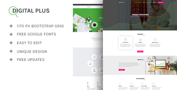 Digital Plus – SEO/Marketing HTML5 Template