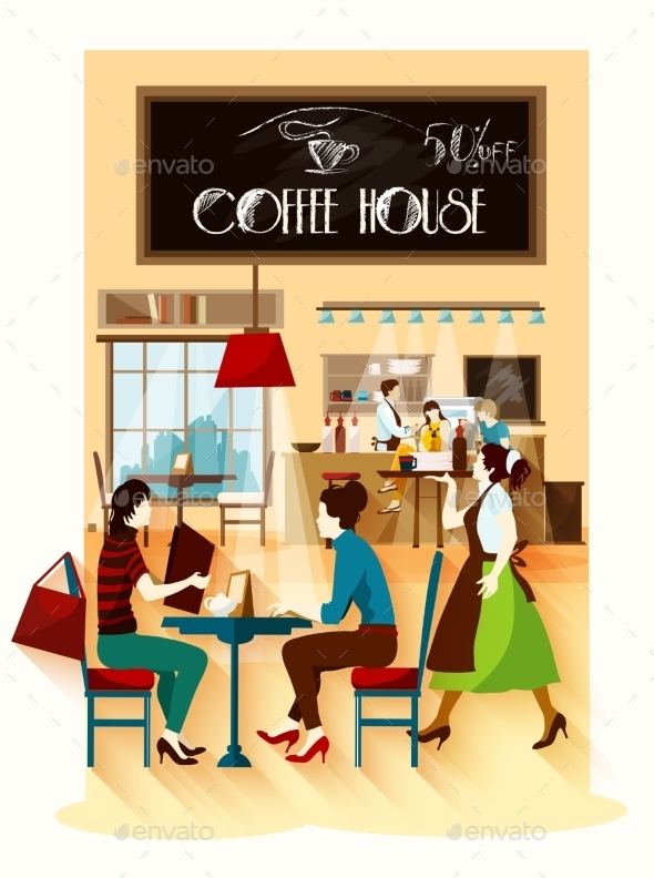 Coffee House  Design Concept - Backgrounds Decorative