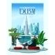 Dubai City Poster With Burj Khalifa