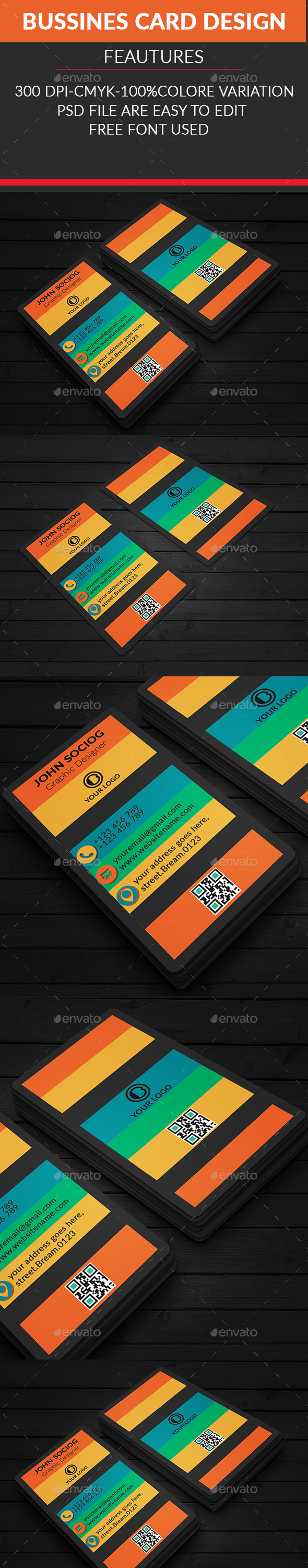 Colorfull Business Card - Business Cards Print Templates