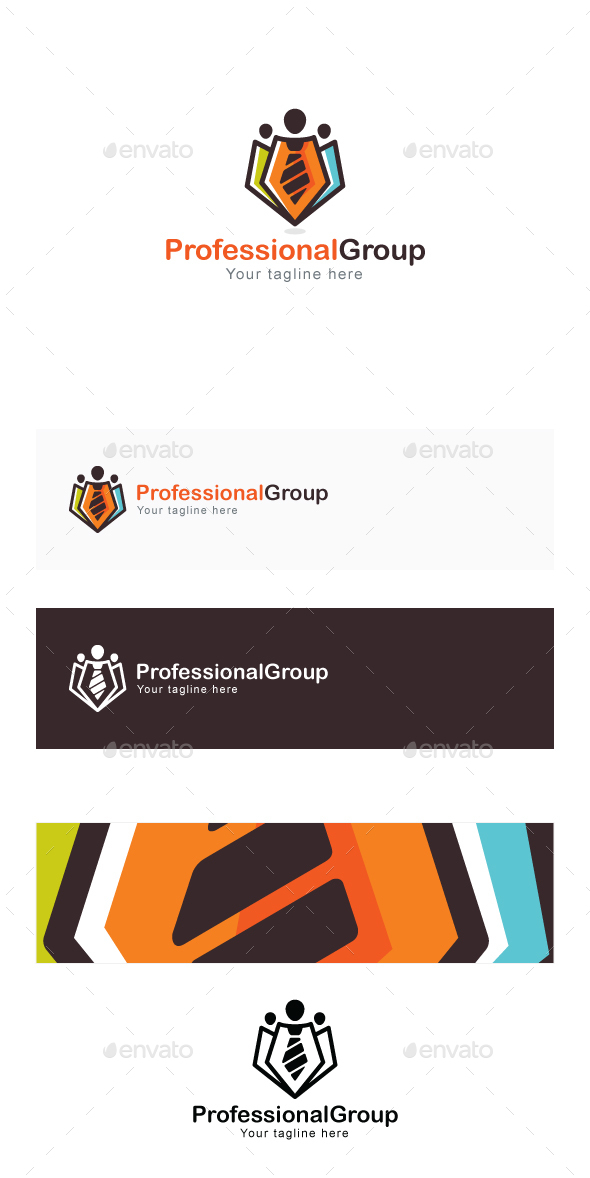 Professional Group - Official Community Stock Logo Template for Business & Corporate Fields - Humans Logo Templates
