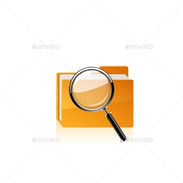 Yellow Folder Vector - Computers Technology
