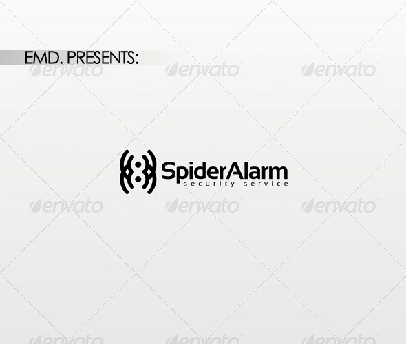 Spider Alarm Logo - Symbols Logo Templates