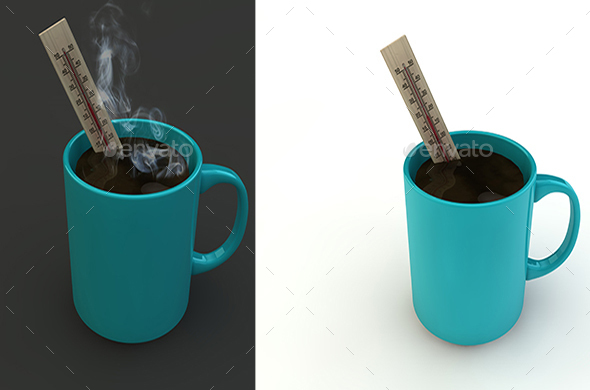 3D- Coffee Mug - 3D Renders Graphics