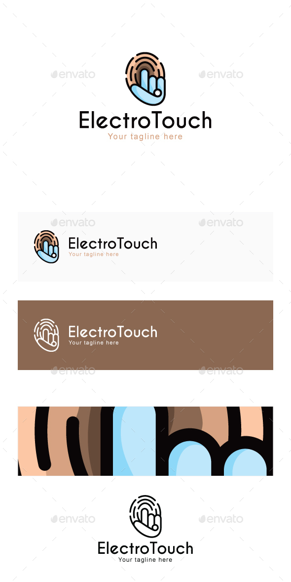 Electro Touch - High Tech Security Solutions Stock Logo Template - Objects Logo Templates