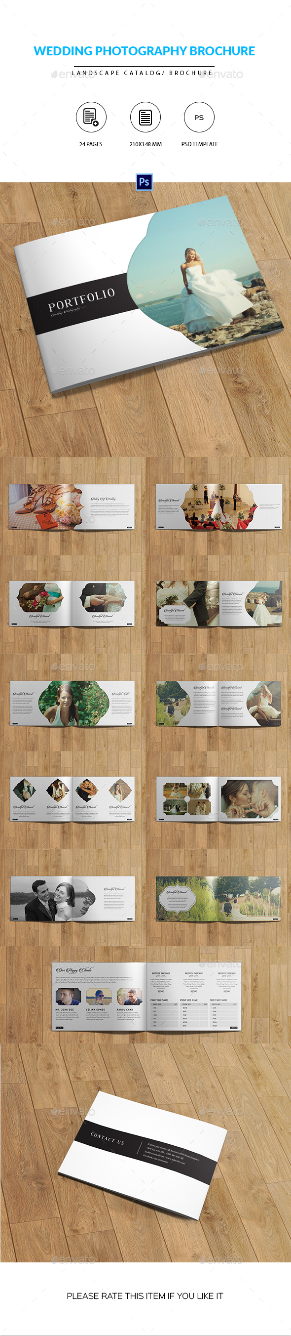 Wedding Photographer Portfolio Catalog/Brochure - Catalogs Brochures