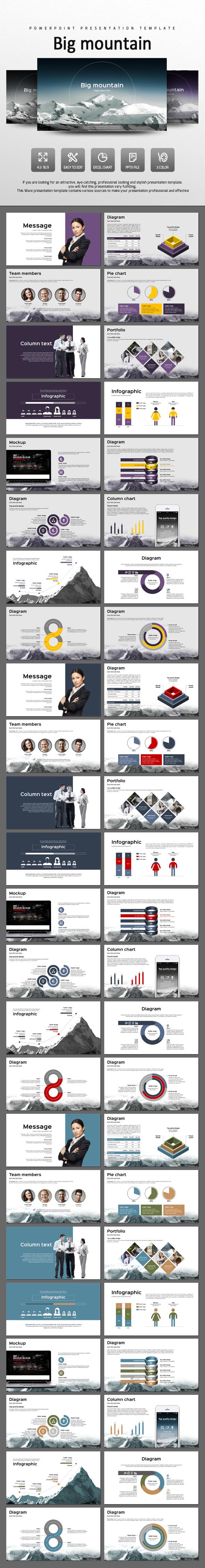 Big Mountain - PowerPoint Templates Presentation Templates