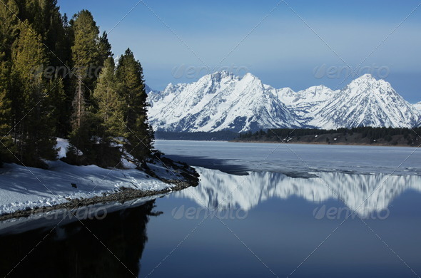 Mountain lake - Stock Photo - Images