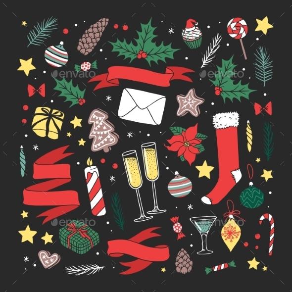 Christmas Greeting Card Illustration - Christmas Seasons/Holidays
