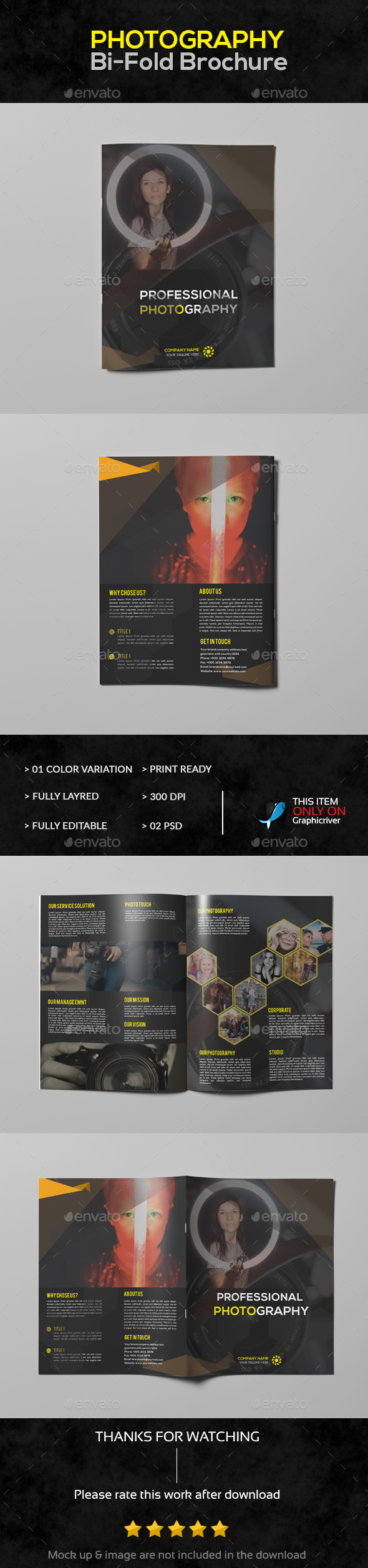 Bi-Fold Photograpy Brochure - Brochures Print Templates