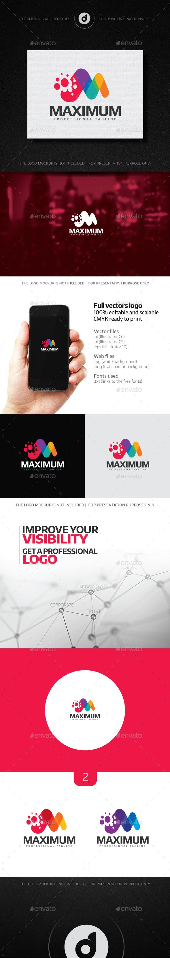 Maximum Logo - Letters Logo Templates