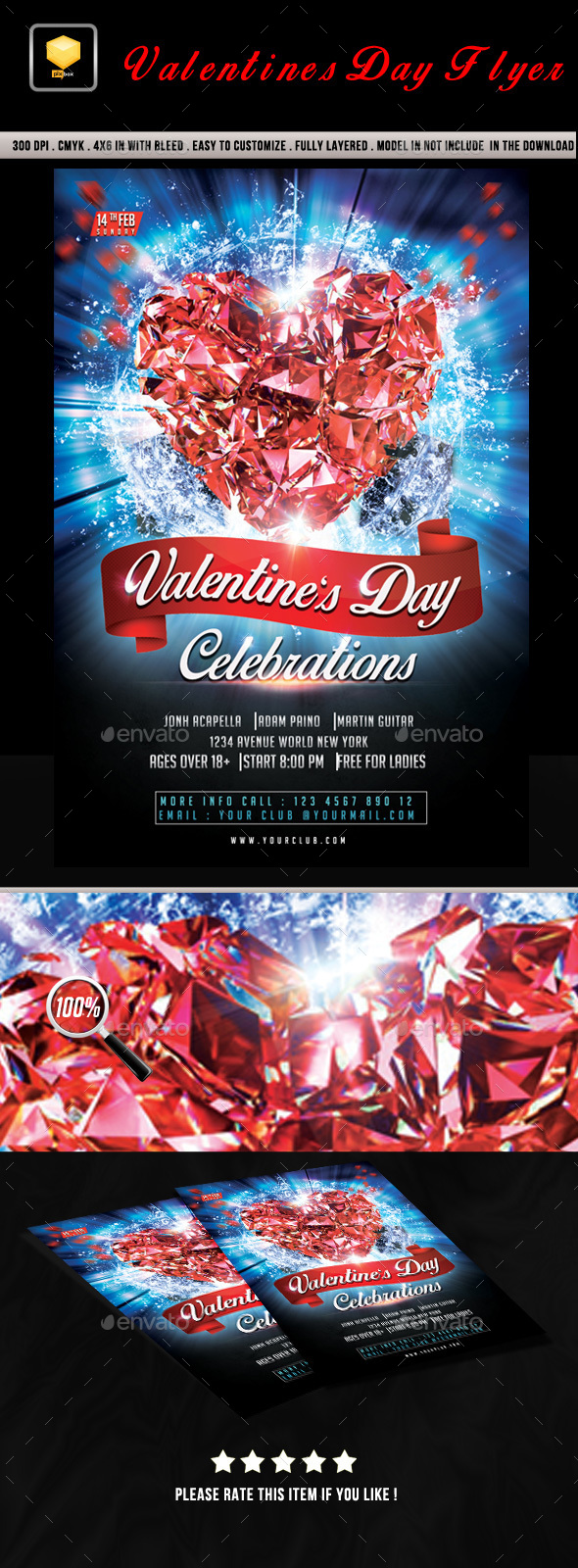 Valentines Day Event Flyer - Clubs & Parties Events