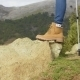 Person In Hiking Boots At The Mountains - VideoHive Item for Sale