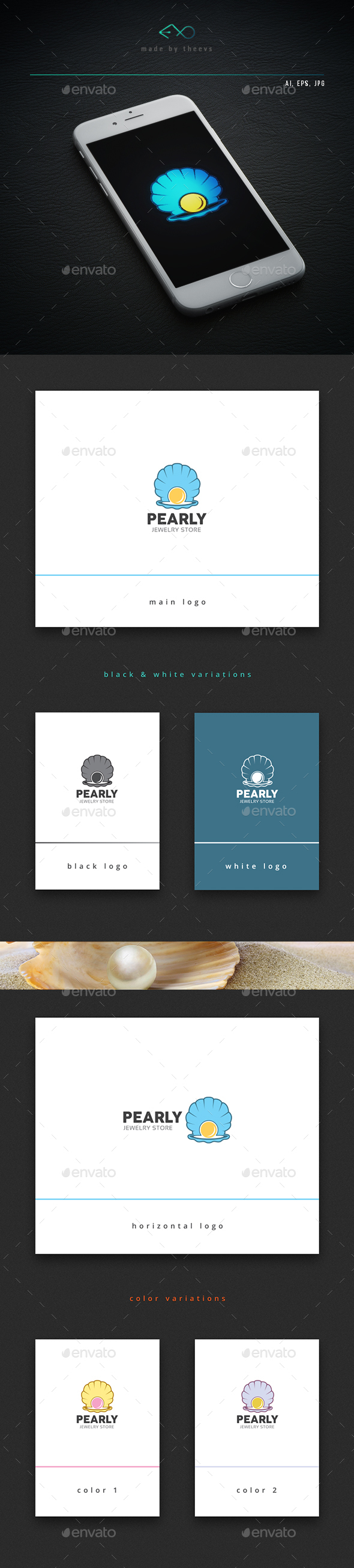 Pearly  - Objects Logo Templates