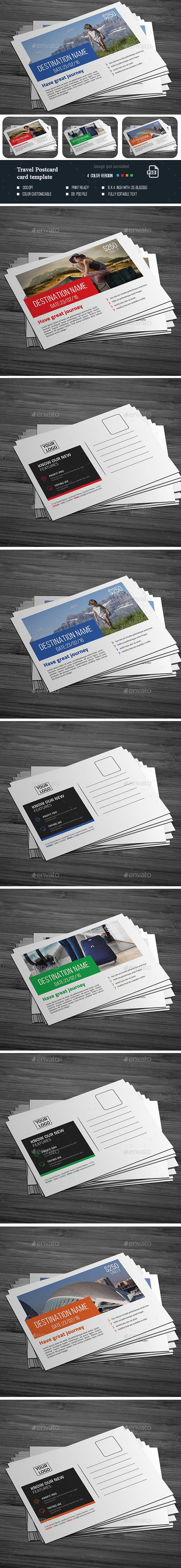 Travel Post Card  - Cards & Invites Print Templates