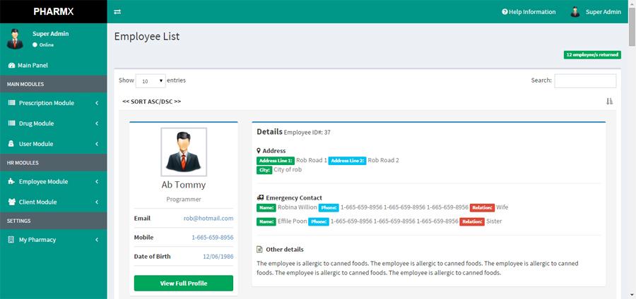 Pharmacy Data Management System Database Design