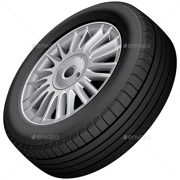 Wheel and Tire Isolated - Man-made Objects Objects